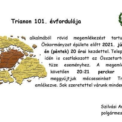 Trianoni megemlékezés 2021.